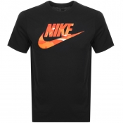 Nike Crew Neck Camo Logo T Shirt Black
